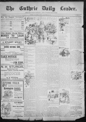 Primary view of object titled 'The Guthrie Daily Leader. (Guthrie, Okla.), Vol. 11, No. 21, Ed. 1, Friday, December 24, 1897'.
