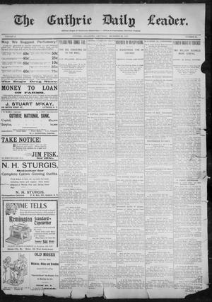 Primary view of object titled 'The Guthrie Daily Leader. (Guthrie, Okla.), Vol. 11, No. 22, Ed. 1, Saturday, December 25, 1897'.