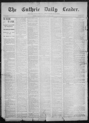 Primary view of object titled 'The Guthrie Daily Leader. (Guthrie, Okla.), Vol. 11, No. 28, Ed. 1, Sunday, January 2, 1898'.