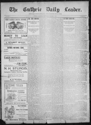 Primary view of object titled 'The Guthrie Daily Leader. (Guthrie, Okla.), Vol. 11, No. 30, Ed. 1, Wednesday, January 5, 1898'.