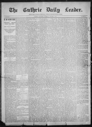 Primary view of object titled 'The Guthrie Daily Leader. (Guthrie, Okla.), Vol. 11, No. 31, Ed. 1, Thursday, January 6, 1898'.