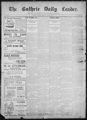 Primary view of object titled 'The Guthrie Daily Leader. (Guthrie, Okla.), Vol. 11, No. 41, Ed. 1, Tuesday, January 18, 1898'.