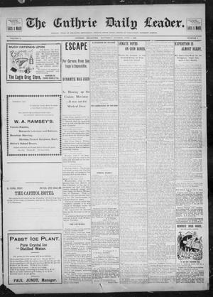 Primary view of object titled 'The Guthrie Daily Leader. (Guthrie, Okla.), Vol. 12, No. 7, Ed. 1, Saturday, June 4, 1898'.