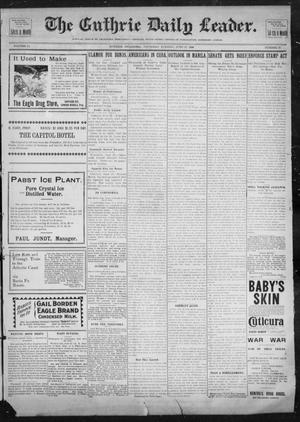 Primary view of object titled 'The Guthrie Daily Leader. (Guthrie, Okla.), Vol. 12, No. 23, Ed. 1, Thursday, June 23, 1898'.
