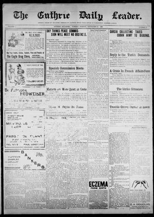 Primary view of object titled 'The Guthrie Daily Leader. (Guthrie, Okla.), Vol. 12, No. 93, Ed. 1, Tuesday, September 13, 1898'.