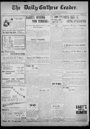 Primary view of object titled 'The Guthrie Daily Leader. (Guthrie, Okla.), Vol. 12, No. 98, Ed. 1, Tuesday, September 20, 1898'.