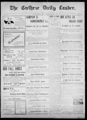 The Guthrie Daily Leader. (Guthrie, Okla.), Vol. 12, No. 115, Ed. 1, Tuesday, October 11, 1898