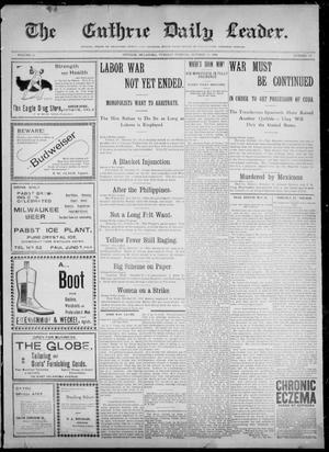 The Guthrie Daily Leader. (Guthrie, Okla.), Vol. 12, No. 120, Ed. 1, Tuesday, October 18, 1898