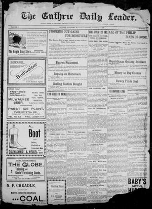 Primary view of object titled 'The Guthrie Daily Leader. (Guthrie, Okla.), Vol. 12, No. 129, Ed. 1, Saturday, October 29, 1898'.