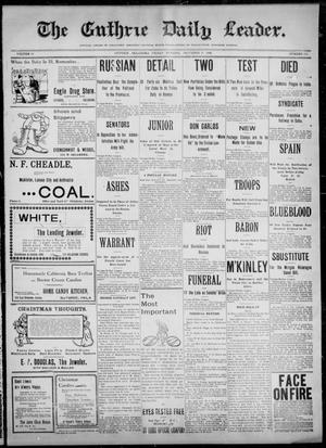 Primary view of The Guthrie Daily Leader. (Guthrie, Okla.), Vol. 12, No. 171, Ed. 1, Friday, December 16, 1898