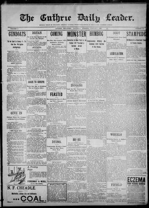 Primary view of object titled 'The Guthrie Daily Leader. (Guthrie, Okla.), Vol. 12, No. 192, Ed. 1, Saturday, January 7, 1899'.