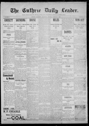 Primary view of object titled 'The Guthrie Daily Leader. (Guthrie, Okla.), Vol. 12, No. 213, Ed. 1, Wednesday, February 1, 1899'.