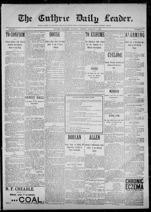 Primary view of object titled 'The Guthrie Daily Leader. (Guthrie, Okla.), Vol. 12, No. 218, Ed. 1, Saturday, February 4, 1899'.