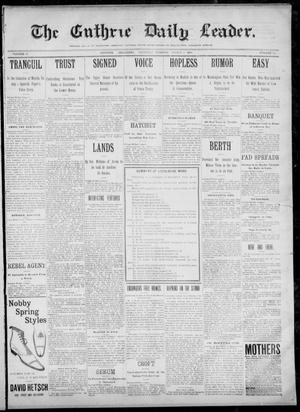 Primary view of object titled 'The Guthrie Daily Leader. (Guthrie, Okla.), Vol. 12, No. 240, Ed. 1, Thursday, March 2, 1899'.