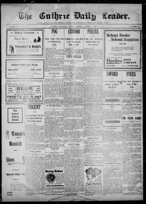 The Guthrie Daily Leader. (Guthrie, Okla.), Vol. 14, No. 112, Ed. 1, Tuesday, October 10, 1899
