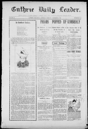 Primary view of object titled 'Guthrie Daily Leader. (Guthrie, Okla.), Vol. 14, No. 122, Ed. 1, Saturday, October 21, 1899'.