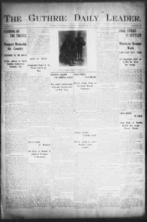 Primary view of object titled 'The Guthrie Daily Leader. (Guthrie, Okla.), Vol. 16, No. 104, Ed. 1, Saturday, September 29, 1900'.