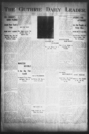 Primary view of object titled 'The Guthrie Daily Leader. (Guthrie, Okla.), Vol. 16, No. 107, Ed. 1, Wednesday, October 3, 1900'.