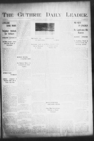 Primary view of object titled 'The Guthrie Daily Leader. (Guthrie, Okla.), Vol. 16, No. 110, Ed. 1, Saturday, October 6, 1900'.