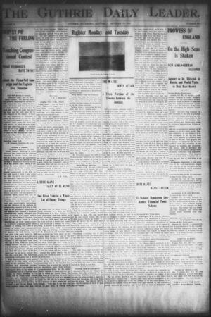 Primary view of object titled 'The Guthrie Daily Leader. (Guthrie, Okla.), Vol. 16, No. 120, Ed. 1, Saturday, October 20, 1900'.
