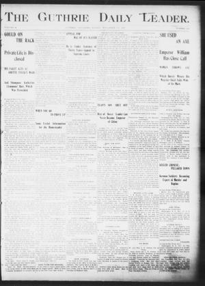 Primary view of object titled 'The Guthrie Daily Leader. (Guthrie, Okla.), Vol. 16, No. 143, Ed. 1, Friday, November 16, 1900'.