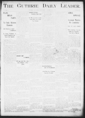 The Guthrie Daily Leader. (Guthrie, Okla.), Vol. 16, No. 147, Ed. 1, Wednesday, November 21, 1900