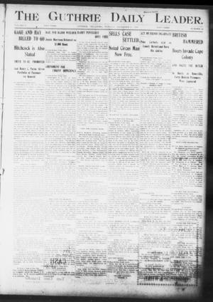Primary view of object titled 'The Guthrie Daily Leader. (Guthrie, Okla.), Vol. 17, No. 19, Ed. 1, Tuesday, December 18, 1900'.