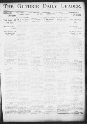 Primary view of object titled 'The Guthrie Daily Leader. (Guthrie, Okla.), Vol. 17, No. 28, Ed. 1, Saturday, December 29, 1900'.