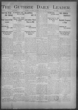 The Guthrie Daily Leader. (Guthrie, Okla.), Vol. 17, No. 101, Ed. 1, Saturday, March 23, 1901