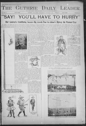 Primary view of object titled 'The Guthrie Daily Leader. (Guthrie, Okla.), Vol. 18, No. 11, Ed. 1, Wednesday, October 9, 1901'.