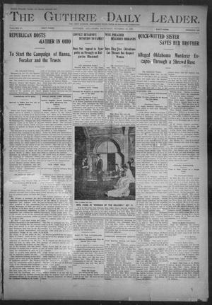 Primary view of object titled 'The Guthrie Daily Leader. (Guthrie, Okla.), Vol. 18, No. 128, Ed. 1, Saturday, October 19, 1901'.