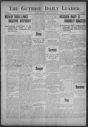 Primary view of object titled 'The Guthrie Daily Leader. (Guthrie, Okla.), Vol. 23, No. 87, Ed. 1, Tuesday, April 26, 1904'.
