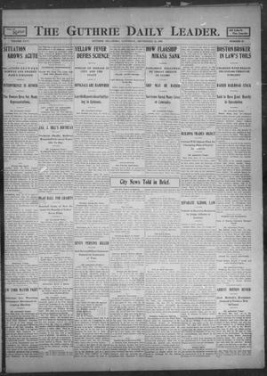 Primary view of object titled 'The Guthrie Daily Leader. (Guthrie, Okla.), Vol. 26, No. 32, Ed. 1, Saturday, September 16, 1905'.