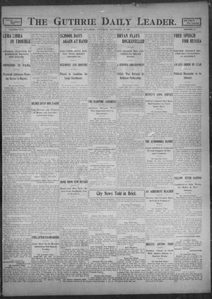 Primary view of object titled 'The Guthrie Daily Leader. (Guthrie, Okla.), Vol. 26, No. 38, Ed. 1, Saturday, September 23, 1905'.