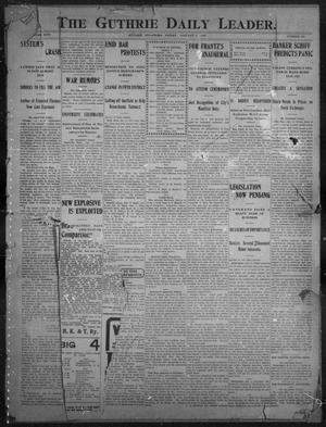 Primary view of object titled 'The Guthrie Daily Leader. (Guthrie, Okla.), Vol. 26, No. 124, Ed. 1, Friday, January 5, 1906'.