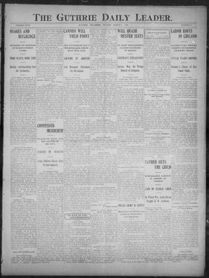 Primary view of object titled 'The Guthrie Daily Leader. (Guthrie, Okla.), Vol. 27, No. 11, Ed. 1, Monday, March 5, 1906'.