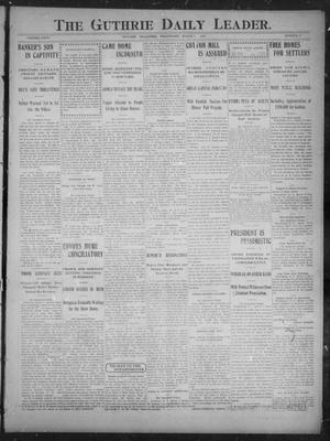 Primary view of object titled 'The Guthrie Daily Leader. (Guthrie, Okla.), Vol. 27, No. 13, Ed. 1, Wednesday, March 7, 1906'.