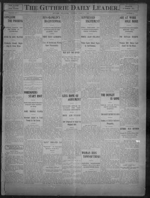 Primary view of object titled 'The Guthrie Daily Leader. (Guthrie, Okla.), Vol. 27, No. 48, Ed. 1, Tuesday, April 17, 1906'.
