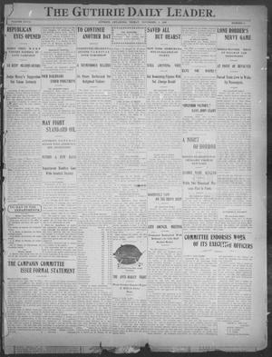 Primary view of The Guthrie Daily Leader. (Guthrie, Okla.), Vol. 28, No. 66, Ed. 1, Friday, November 9, 1906