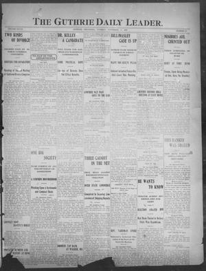 Primary view of object titled 'The Guthrie Daily Leader. (Guthrie, Okla.), Vol. 28, No. 69, Ed. 1, Tuesday, November 13, 1906'.