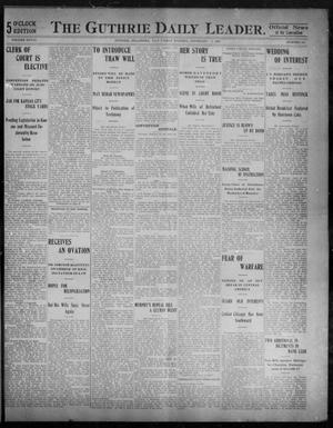 Primary view of object titled 'The Guthrie Daily Leader. (Guthrie, Okla.), Vol. 28, No. 135, Ed. 1, Saturday, February 9, 1907'.