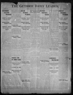 Primary view of object titled 'The Guthrie Daily Leader. (Guthrie, Okla.), Vol. 29, No. 4, Ed. 1, Tuesday, May 7, 1907'.