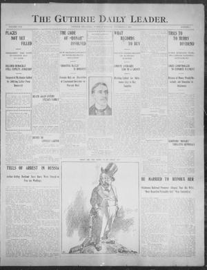 Primary view of object titled 'The Guthrie Daily Leader. (Guthrie, Okla.), Vol. 30, No. 1, Ed. 1, Tuesday, November 5, 1907'.