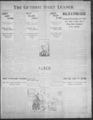 Primary view of object titled 'The Guthrie Daily Leader. (Guthrie, Okla.), Vol. 30, No. 3, Ed. 1, Thursday, November 7, 1907'.