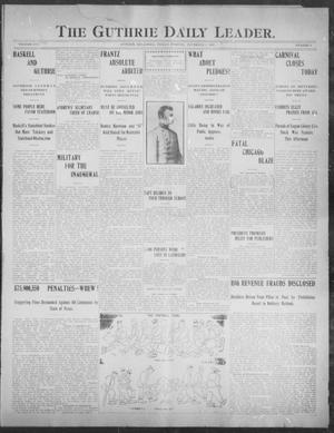 Primary view of object titled 'The Guthrie Daily Leader. (Guthrie, Okla.), Vol. 30, No. 4, Ed. 1, Friday, November 8, 1907'.