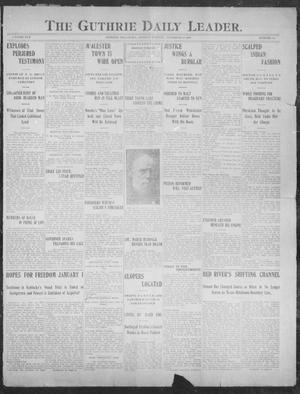 Primary view of object titled 'The Guthrie Daily Leader. (Guthrie, Okla.), Vol. 30, No. 46, Ed. 1, Monday, December 30, 1907'.