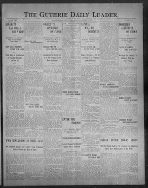 Primary view of object titled 'The Guthrie Daily Leader. (Guthrie, Okla.), Vol. 30, No. 61, Ed. 1, Friday, January 17, 1908'.