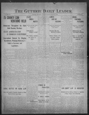 Primary view of object titled 'The Guthrie Daily Leader. (Guthrie, Okla.), Vol. 30, No. 82, Ed. 1, Monday, February 17, 1908'.