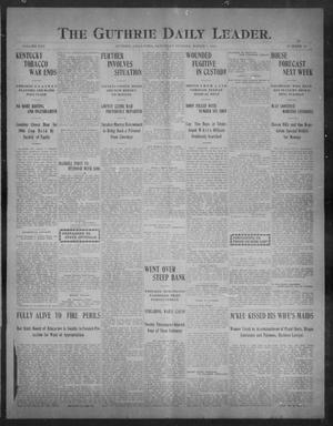 Primary view of object titled 'The Guthrie Daily Leader. (Guthrie, Okla.), Vol. 30, No. 99, Ed. 1, Saturday, March 7, 1908'.
