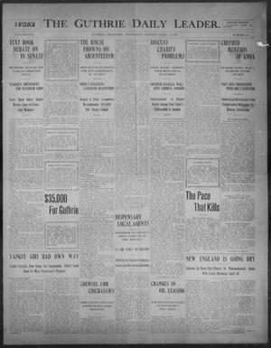 Primary view of object titled 'The Guthrie Daily Leader. (Guthrie, Okla.), Vol. 30, No. 144, Ed. 1, Wednesday, April 29, 1908'.